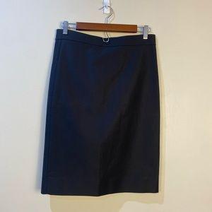 NWT's JCrew Black No.2 Pencil Skirt size 4